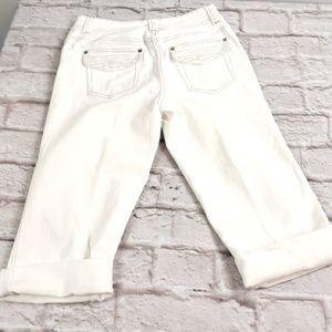 Chico's Platinum women's White Jeans Capris sz 0